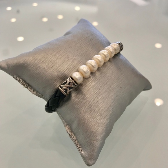 Honora Jewelry - Honora Black Leather and Cultured Pearl Bracelet